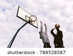 portrait of a two young sports...   Shutterstock . vector #788528587