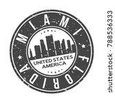 miami florida usa stamp logo... | Shutterstock .eps vector #788536333