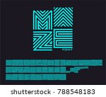 neon maze font set | Shutterstock .eps vector #788548183