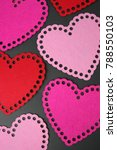 colorful pink and red hearts... | Shutterstock . vector #788550103