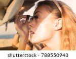 girls wearing mascara  | Shutterstock . vector #788550943