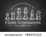chess tournament poster. vector ... | Shutterstock .eps vector #788555263