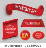 valentine's day. red scroll. a... | Shutterstock .eps vector #788559013