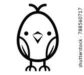 Chick Icon. Simple Illustratio...