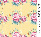 seamless floral pattern with... | Shutterstock .eps vector #788562427