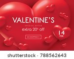 valentine's day sale poster... | Shutterstock .eps vector #788562643