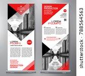business roll up. standee... | Shutterstock .eps vector #788564563