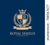 luxury vintage crest logo.... | Shutterstock .eps vector #788567677