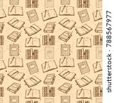 seamless pattern with retro... | Shutterstock .eps vector #788567977