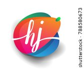 letter hj logo with colorful... | Shutterstock .eps vector #788580673