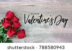 happy valentine's day text with ... | Shutterstock . vector #788580943
