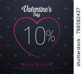 valentine day sales  special...   Shutterstock .eps vector #788582437
