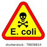 ehec   warning sign. computer... | Shutterstock . vector #78858814