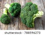 fresh broccoli  green... | Shutterstock . vector #788596273