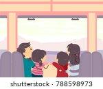 illustration of stickman family ... | Shutterstock .eps vector #788598973