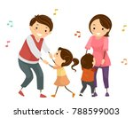 illustration of stickman family ... | Shutterstock .eps vector #788599003