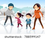 illustration of a family ice... | Shutterstock .eps vector #788599147