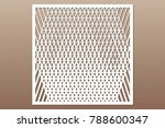 decorative card for cutting. ...   Shutterstock .eps vector #788600347