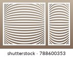 set decorative card for cutting.... | Shutterstock .eps vector #788600353
