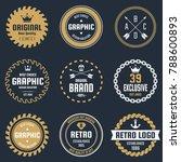 vintage retro vector logo for... | Shutterstock .eps vector #788600893