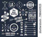 vintage retro vector logo for... | Shutterstock .eps vector #788600923