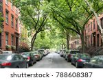 Tree Lined Street Of Historic...