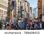 crowds of people shopping at... | Shutterstock . vector #788608423