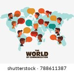group of happy smiling young... | Shutterstock .eps vector #788611387