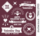 valentine template banner... | Shutterstock .eps vector #788611903