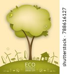 eco friendly. ecology concept... | Shutterstock .eps vector #788616127