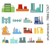 factory and facilities cartoon... | Shutterstock .eps vector #788617267