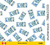flying canadian dollar... | Shutterstock .eps vector #788621533