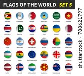 all flags of the world set 5 .... | Shutterstock .eps vector #788621797