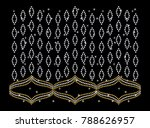 rhinestone applique pattern... | Shutterstock .eps vector #788626957