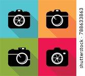 set of camera icon flat design | Shutterstock .eps vector #788633863