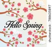 spring flower vector background | Shutterstock .eps vector #788635897