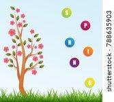 spring tree vector background ... | Shutterstock .eps vector #788635903
