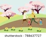 spring landscape. image of... | Shutterstock .eps vector #788637727