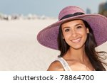 beautiful young woman wearing a ... | Shutterstock . vector #78864700