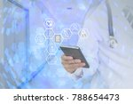 medical technology global... | Shutterstock . vector #788654473