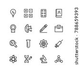 laboratory icon set. collection ... | Shutterstock .eps vector #788659393