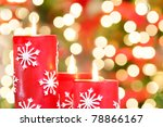 christmas candles against... | Shutterstock . vector #78866167
