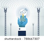 5g networks concept. the... | Shutterstock .eps vector #788667307