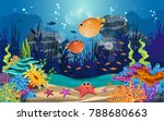 marine habitats and the beauty... | Shutterstock .eps vector #788680663