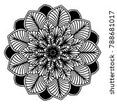mandalas for coloring book.... | Shutterstock .eps vector #788681017