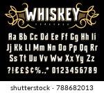 vector alphabet in vintage... | Shutterstock .eps vector #788682013