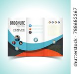 vector illustration of brochure ... | Shutterstock .eps vector #788682367