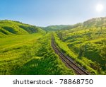 Old Railway Track On The...