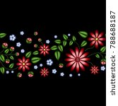 embroidery horizontal colorful... | Shutterstock .eps vector #788688187