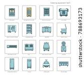 professional kitchen equipment... | Shutterstock .eps vector #788693173